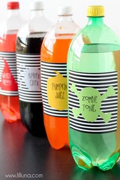 FREE Hallowen Soda Pop Labels - download on { lilluna.com }