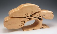 Tree Jewelry Box maple with secrets $600.82