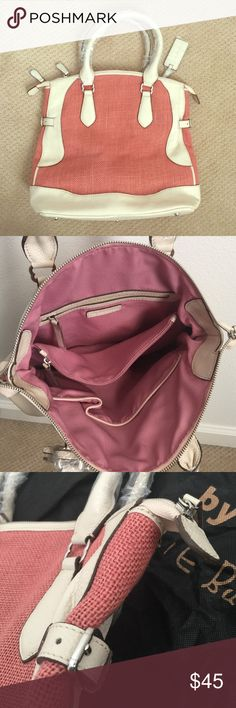 "Pink / white handbag. New! New! Pink/white color. Includes dust bag. 14.5"" x 12.5"". Bags"