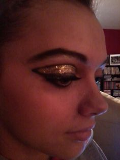 This was how we did Jill's makeup in Vegas for her Nationals Dance Competition.  This was a trial run at home.