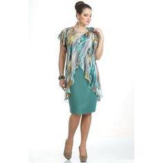 c9926e2ce4046 Plus Size Dress Irregular Hem Printed Casual Dress Chiffon Dress. Moda  EvangelicaRoupas FemininasVestido ...