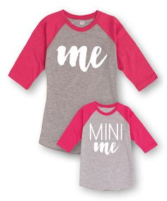 Take a look at this Heather & Pink 'Me' & 'Mini Me' Tee Set - Toddler, Girls & Women today! Mommy And Me Outfits, Girl Outfits, Cute Outfits, My Little Girl, My Baby Girl, My Princess, Little Princess, Baby Kids, Toddler Girls