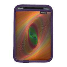 Orange ellipse galaxy iPad mini sleeve $50.80 *** Orange to green ellipse fractal design - iPad sleeve