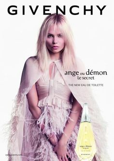 """Natasha Poly Stars in Givenchy """"Ange ou Démon Le Secret"""" Fragrance 2013 Campaign 