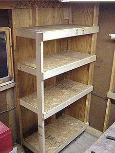 DIY Garage Storage Shelves Plans