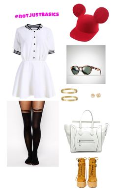 """glow"" by steffany-rivera on Polyvore featuring Jeffrey Campbell, ASOS, CÉLINE, Cartier, Vince Camuto and Ralph Lauren"