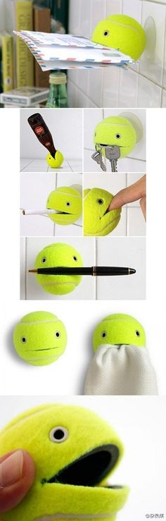 A great way to recycle your old tennis balls