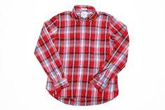 WHARF SEVEN Red Plaid Madras Shirt