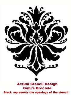 Damask Stencil Gabi's Brocade MED stencils por CuttingEdgeStencils
