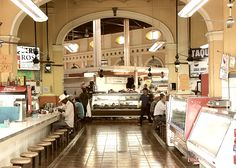 MERCADO MUNICIPAL HERMOSILLO, Sonora Mexico. Best Cabeza Tacos!! Can't tell you how many times I've sat on those stools.