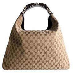 Gucci-GG-Fabric-Horsebit-Large-Hobo-Handbag