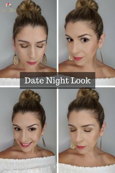 Perfect Summer Date Night Makeup Look!! Bronze, gold smokey eye and a bright pink lip that's 100% smudge/kiss proof! Learn how to achieve this beginner-friendly, summer look! #datenightmakeup #bronzesmokeyeye #easysmokeyeye #summermakeup  #simplemakeup #mommakeup