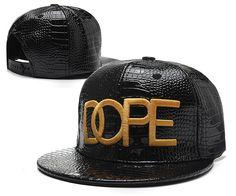 5f509fcaa0f Dope Snapbacks Hats Leather ALL Black 209