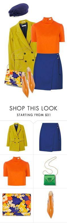 """""""Amber"""" by km-r7 ❤ liked on Polyvore featuring MANGO, Delpozo, Little Liffner, Carven, Betmar and vintage"""