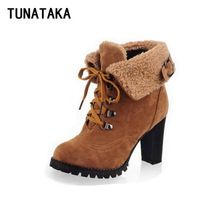 Like and Share if you want this  Faux Fur Suede Lace Up Winter Women's Ankle Boots Fashion Casual High Heels Boots Plus Size Drop Shipping     Tag a friend who would love this!     FREE Shipping Worldwide     #Style #Fashion #Clothing    Buy one here---> http://www.alifashionmarket.com/products/faux-fur-suede-lace-up-winter-womens-ankle-boots-fashion-casual-high-heels-boots-plus-size-drop-shipping/