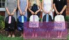 Tips for high school freshman / back to school