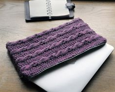 'Amy' Laptop bag.  Two layers of knitting for extra protection and elasticity.