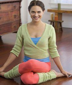 Yoga Wrap Sweater & Leggings