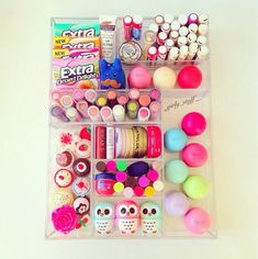 Dude, she has like all the baby lips, eos, and the little owls from forever Chapstick heaven. Rangement Makeup, Eos Lip Balm, Lip Balms, Baby Lips, Just Girly Things, Girly Stuff, Small Things, Makeup Storage, Makeup Drawer