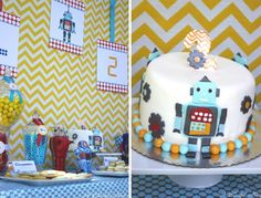 A Vintage Robot Birthday Party from A Blissful Nest