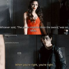 """#Shadowhunters 1x03 """"Dead Mans Party"""" - Izzy and Alec"""