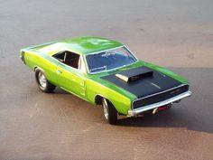 1968 Dodge Charger 2'n1 Plastic Model Car Kit in 1/25 Scale. @ http://www.hobbylinc.com/cgi-bin/pic.cgi?t=pics_user_gallery&item_i=11367