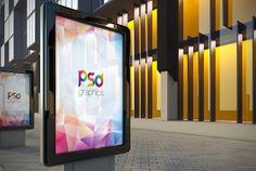 Açık Billboard Reklam Mockup Ücretsiz PSD | PSD Grafikleri