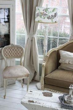 French inspired living room decor