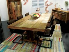 d-Bodhi showed this dining set, which is part of the Soul Collection and made with reclaimed wood.