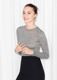 & Other Stories   Long-Sleeved Wool Top