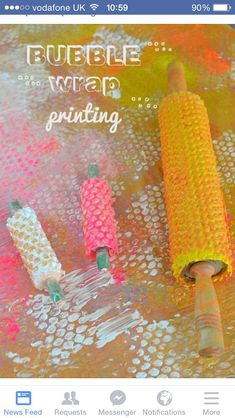 Bubble Wrap Roller Printing - Art Bar kids use their whole body when printing with bubble wrap and rollers Really want great suggestions concerning arts and crafts? Bubble Wrap Printing - texture art that involves full body movement A great art and sensor
