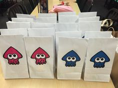 Splatoon Birthday Party Favor Bags - Girls vs. Boys!