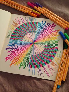 New mandala - Color Explosion Dibujos Zentangle Art, Zentangle Drawings, Zentangle Patterns, Zentangles, Mandala Doodle, Mandala Drawing, Doodle Art, Colorful Drawings, Cool Drawings