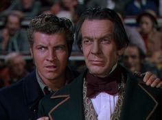 Robert Preston and Raymond Massey in ''Reap the Wild Wind'' 1942 Paulette Goddard, John Wayne, Barton Maclane, Raymond Massey, Those Were The Days, Best Actor, American Actors, Preston, Charleston