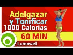 Adelgazar y Tonificar Todo el Cuerpo - Ejercicios para Quemar 1000 Calorías en Casa - YouTube