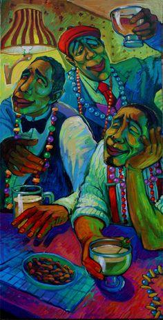 Cajun art, Drinking Buddies by Terrance Osborne