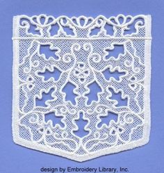 Lace pocket using embroidery machine