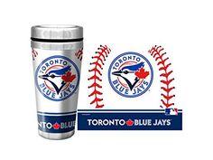 MLB Toronto Blue Jays Baseball Stainless Steel Full Wrap Travel Mug Sports Merchandise, Toronto Blue Jays, Travel Mug, Mlb, Walmart, Stainless Steel, Baseball, Cups, Canada