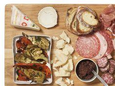 Antipasto platter with grilled vegetables