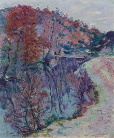 Jean-Baptiste-Armand Guillaumin - Bords de la Sedelle, Crozant (ca. Renoir, Monet, French Impressionist Painters, Jean Baptiste, Camille Pissarro, Post Impressionism, Nature Scenes, Beautiful Paintings, Photo Art