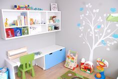 LP's Room  Ikea Stuva Bedroom set.  Surface Inspired wall decal (Etsy).