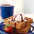 Try the Waffles with Chocolate Malted Syrup Recipe on Williams-Sonoma.com