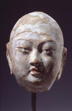 Head of a Monk; or century CE. Eastern Philosophy, Grand Palais, Silk Road, Art Object, Chinese Art, Asian Art, Japanese Art, Buddhism, Namaste