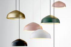 Powder room Ross Gardam · Aura Collection — The Design Files Interior Lighting, Home Lighting, Modern Lighting, Lighting Design, Pendant Lighting, Pendant Lamp, Track Lighting, Chandelier, Dining Room