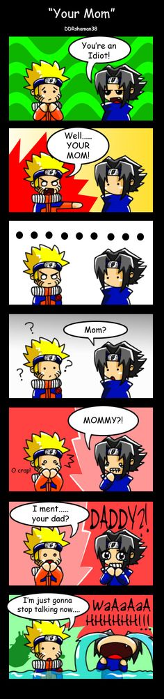 Sasuke has some parental issues.