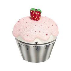 Eieruhr - Muffin - rosa/silber