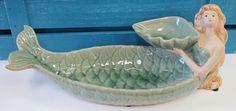 Ceramic Mermaid Bird Feeder - Nautical Garden & Patio Decor