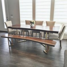 449 Best Contemporary Wood Dining Table Images In 2019 Wood Dining