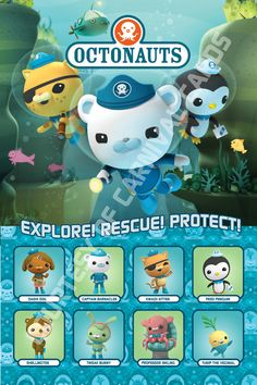 Octonauts Printable Poster by CarnivalCards on Etsy, $10.00