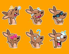 "Check out new work on my @Behance portfolio: ""kangaroo stickers"" http://be.net/gallery/44935509/kangaroo-stickers"